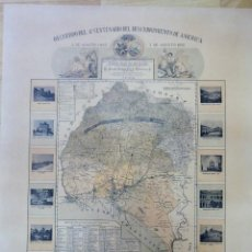 Arte: HUELVA,1892, MAPA DE LA PROVINCIA, CONMEMORATIVO CUARTO CENTENARIO DESCUBRIMIENTO DE AMERICA,UNICO. Lote 111863983