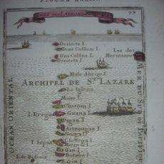 Arte: MAPA ISLAS MARIANAS, COLONIA ESPAÑOLA ,ORIGINAL, PARIS, 1683, MALLET, ESPLÉNDIDO ESTADO Y COLOREADO. Lote 112708123