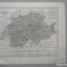 Art: MAPA DE SUIZA Y GRAFICO ALTIUDES DE MONTAÑAS - AÑO 1835 -. Lote 176537994