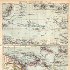 Arte: COLONIAS ALEMANAS EN LOS MARES DEL SUR NEOCOLONIALISMO BISMARCK ARCHIPIÉLAGO TERRITORIOS DEL KAISER. Lote 112638215