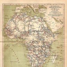 Arte: VIAJES DE EXPLORACIÓN MÁS RELEVANTES EN ÁFRICA EXPLORADORES RUTA Y FECHAS HASTA 1888 . Lote 112639303