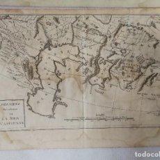 Arte: CARTA ORIGINAL FRANCESA ÚLTIMA REVOLUCIÓN DEL GOLFO PÉRSICO. JEAN-CLAUDE DELISLE DE SALES(1770).RARO. Lote 113169483