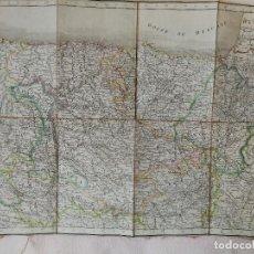 Arte: CARTOGRAFÍA ORIGINAL NORTE DE LA PENÍNSULA IBÉRICA, ESPAÑA. MAPA GRABADO.PARÍS, SIGLO XVII. MUY RARO. Lote 113569127