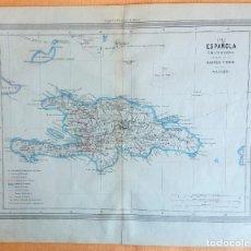 Arte: MAPA ANTIGUO SANTO DOMINGO AÑO 1852 CON CERTIFICADO AUTENTICIDAD. MAPAS ANTIGUOS DEL CARIBE. Lote 113996143