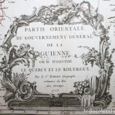 Arte: PARTIE ORIENTALE DU GOUVERNEMENT GENERAL DE LA GUIENNE OU SE TROUVENT LE QUERCY ET LE ROUERGUE.. Lote 114365411
