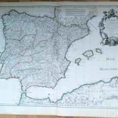 Arte: MAPA ANTIGUO ESPAÑA AÑO 1701 CON CERTIFICADO DE AUTENTICIDAD. MAPAS ANTIGUOS ESPAÑA GENERAL. Lote 114674751