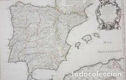 Arte: Mapa antiguo España año 1701 con certificado de autenticidad. Mapas antiguos España general - Foto 3 - 114674751