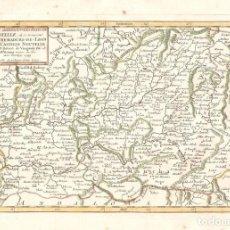 Arte: MAPA DE CASTILLA LA MANCHA Y EXTREMADURA DEL SIGLO XVIII. Lote 114923715