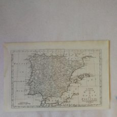 Arte: MAPA PENÍNSULA IBÉRICA. ESPAÑA Y PORTUGAL. 1778. BOWEN. A NEW AND ACCURATE MAP OF SPAIN AND PORTUGAL. Lote 115803375