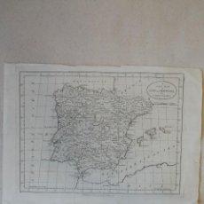 Arte: MAPA PENÍNSULA IBÉRICA. ESPAÑA Y PORTUGAL. 1783. A NEW MAP OF SPAIN AND PORTUGAL BY J.BAYLY.LONDRES.. Lote 115805659