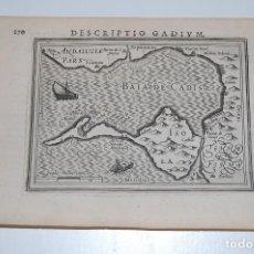 Arte: DESCRIPTIO GADIUM (BAHIA DE CADIZ). 1616. 13 X 19,5 CM. JODOCUS HONDIUS II, [AMSTERDAM]. Lote 116095479