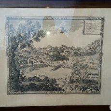 Arte: GRABADO DE LA ISLA DE LA CONFERENCIA. ISLA DE LOS FAISANES. IRUN RÍO BIDASOA. Lote 116381223