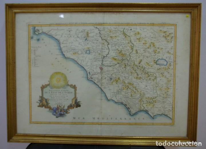 NOUVELLE CARTE DE L'ETAT DE L'EGLISE. 1776 SANTINI /REMONDINI (Arte - Cartografía Antigua (hasta S. XIX))