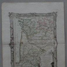 Arte: GRAN MAPA DEL SUDOESTE DE FRANCIA ( EUROPA ), 1766. DESNOS. Lote 118034399