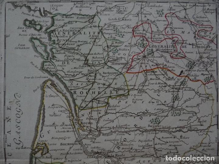 Arte: Gran mapa del sudoeste de Francia ( Europa ), 1766. Desnos - Foto 3 - 118034399