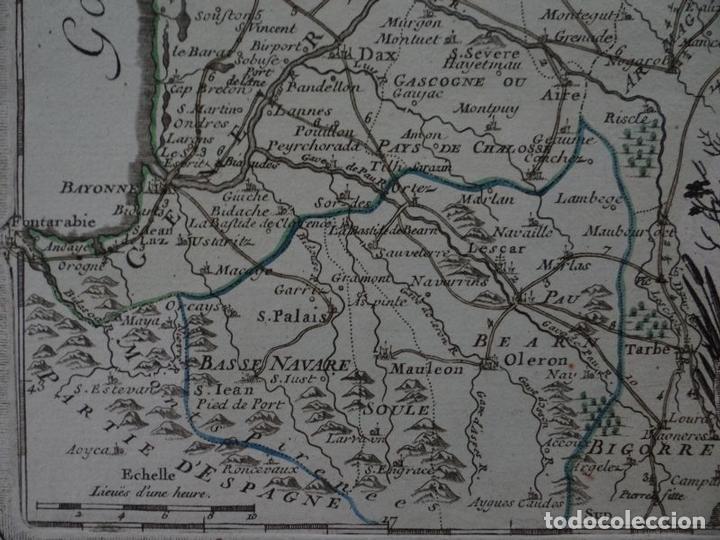 Arte: Gran mapa del sudoeste de Francia ( Europa ), 1766. Desnos - Foto 5 - 118034399