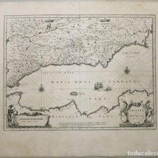 Arte: GRAN MAPA DE LOS ANTIGUOS REINOS DE GRANADA Y MURCIA (ESPAÑA), 1640. BLAEU. Lote 118034583