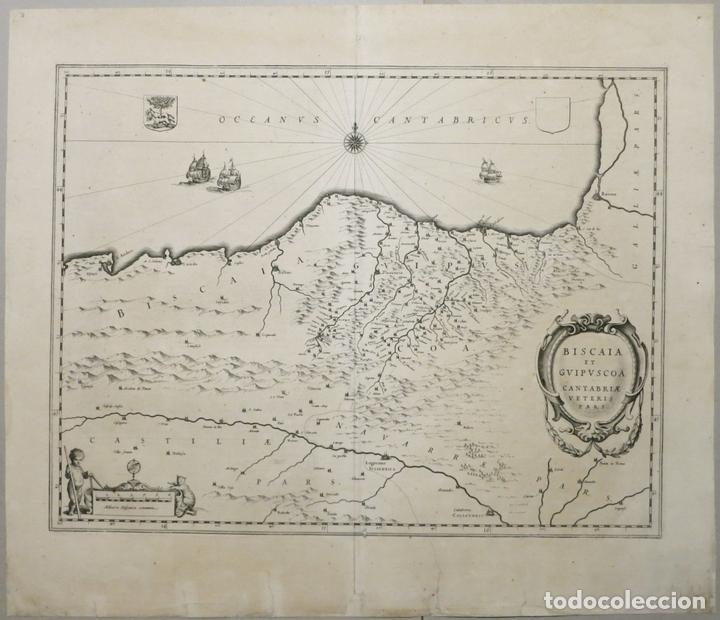 GRAN MAPA DE VIZCAYA, GUIPÚZCOA, ÁLAVA Y CANTABRIA ( NORTE DE ESPAÑA), 1640. BLAEU (Arte - Cartografía Antigua (hasta S. XIX))