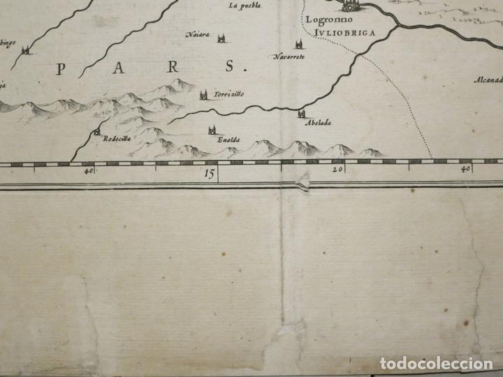 Arte: Gran mapa de Vizcaya, Guipúzcoa, Álava y Cantabria ( norte de España), 1640. Blaeu - Foto 3 - 118034699