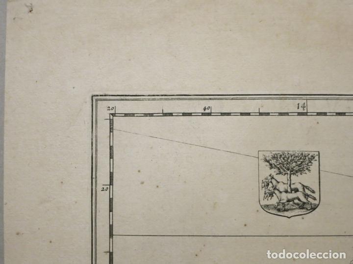 Arte: Gran mapa de Vizcaya, Guipúzcoa, Álava y Cantabria ( norte de España), 1640. Blaeu - Foto 6 - 118034699