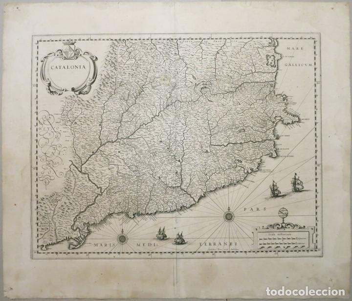 GRAN MAPA DE CATALUÑA (ESPAÑA), 1640. BLAEU (Arte - Cartografía Antigua (hasta S. XIX))