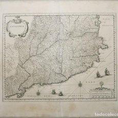 Arte: GRAN MAPA DE CATALUÑA (ESPAÑA), 1640. BLAEU. Lote 118034747