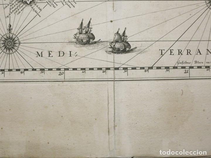 Arte: Gran mapa de Cataluña (España), 1640. Blaeu - Foto 3 - 118034747
