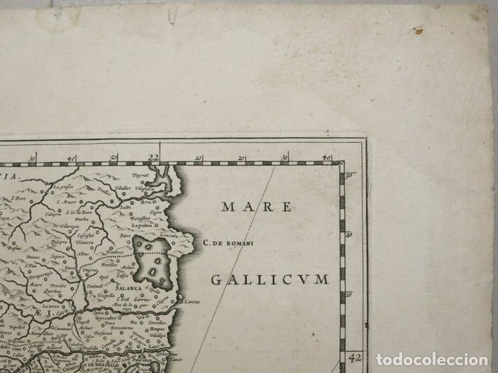 Arte: Gran mapa de Cataluña (España), 1640. Blaeu - Foto 6 - 118034747