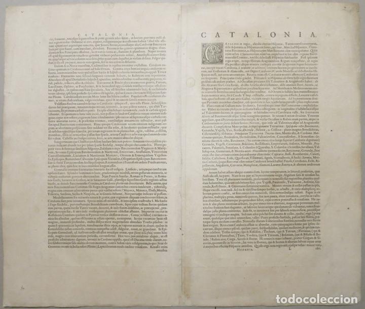 Arte: Gran mapa de Cataluña (España), 1640. Blaeu - Foto 9 - 118034747