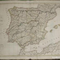 Arte: GRAN MAPA DE ESPAÑA Y PORTUGAL, 1822. HERISSON/ BASSET. Lote 118054463