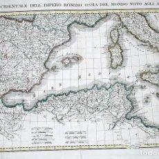 Arte: GRAN MAPA DE LA PARTE OCCIDENTAL DEL IMPERIO ROMANO (EUROPA) 1807. BARBIELLINI. Lote 118054835