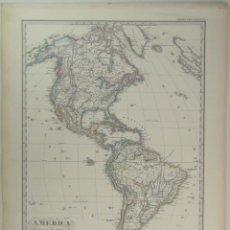Arte: MAPA DE AMÉRICA DEL NORTE, CENTRAL Y SUR, 1890. STIELER/ PERTHES. Lote 118193679