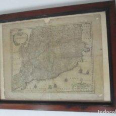 Arte: MAPA DE CATALUÑA, CATALONIA, CATALUNYA, JANSSONIUS - HONDIUS - ORIGINAL - AÑO 1638. Lote 118236683