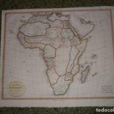 Arte: GRAN MAPA DE ÁFRICA, 1809. POIRSON. Lote 278216143