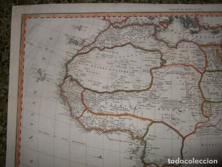 Arte: Gran mapa de África, 1809. Poirson - Foto 3 - 278216143