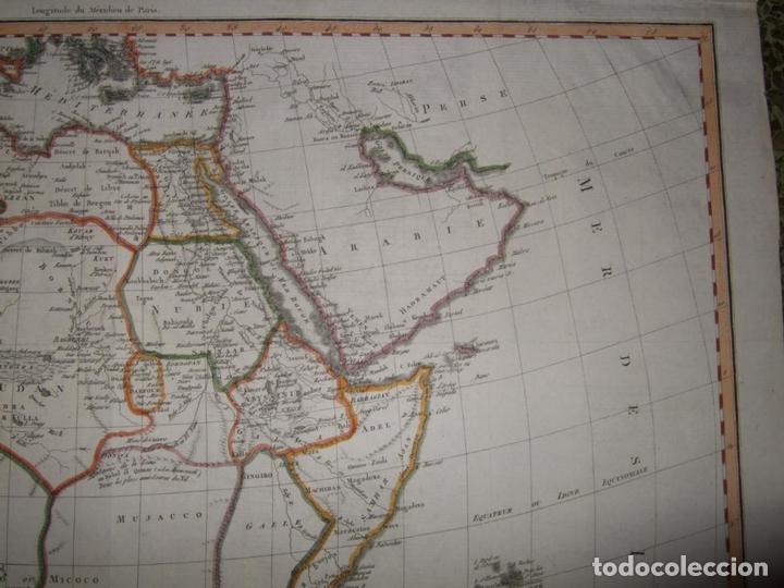 Arte: Gran mapa de África, 1809. Poirson - Foto 4 - 278216143