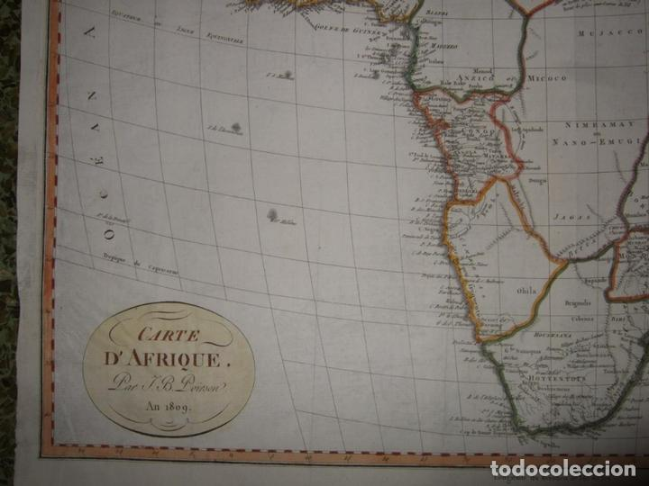 Arte: Gran mapa de África, 1809. Poirson - Foto 5 - 278216143