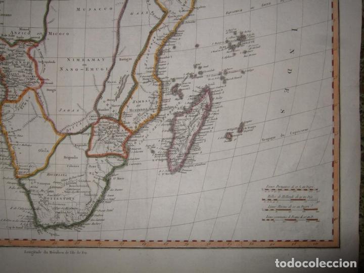 Arte: Gran mapa de África, 1809. Poirson - Foto 6 - 278216143