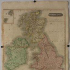 Arte: GRAN MAPA DEL REINO UNIDO, 1815. THOMSON. Lote 118387531
