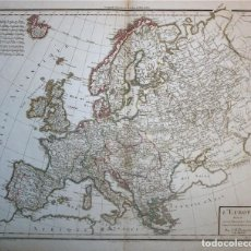 Arte: MAPA DE EUROPA, 1804. POIRSON/TARDIEU/MENTELLE. Lote 118387811