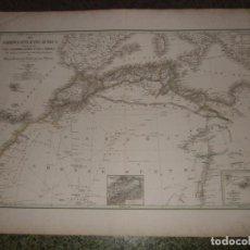 Arte: GRAN MAPA DEL NORTE DE ÁFRICA, 1841. WEILAND. Lote 118387987