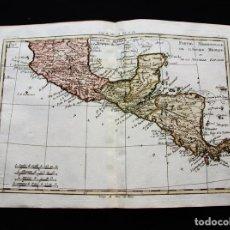 Arte: MAPA DE CENTROAMÉRICA Y EL SUR DE MÉXICO, 1770. BONNE. Lote 118798623