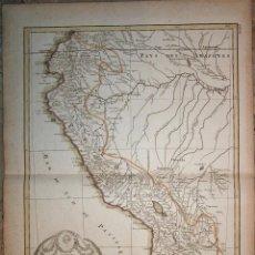 Arte: MAPA DE PERÚ, QUITO, LIMA Y LA PLATA ( AMÉRICA DEL SUR ), 1787. BONNE/LATTRÉ. Lote 118824011