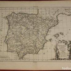 Arte: ANTIGUO MAPA DE ESPAÑA Y PORTUGAL, 1787. PHILIPPE DE PRETOT. Lote 118825755