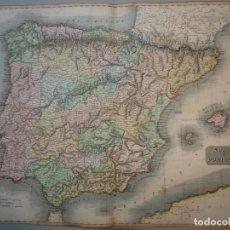 Arte: GRAN MAPA DE ESPAÑA Y PORTUGAL, 1814. THOMSON. Lote 118881247