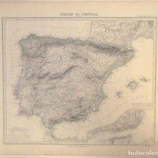 Arte: MAPA DE ESPAÑA Y PORTUGAL, 1895. STIELER/PERTHES. Lote 118882455