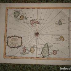 Arte: MAPA DE LAS ISLAS DE CABO VERDE (ÁFRICA OCCIDENTAL), 1746. BELLIN. Lote 118883215