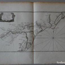 Arte: MAPA DEL CANAL DE LANGUEDOC ( FRANCIA ),1764. BELLIN. Lote 118883939