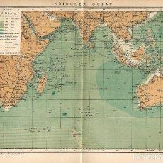 Arte: MAPA SIGLO XIX- OCEÁNO ÍNDICO- ÁFRICA - ASIA - OCEANÍA - CARTOGRAFÍA. Lote 118893347