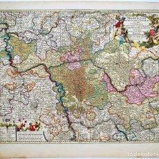 Arte: MAPA DE ALEMANIA. MAP OF GERMANY KARTE DEUTSCHLANDS NICOLAS VISSCHER. Lote 50498313